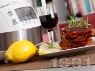 Свински ребра с барбекю сос от доматено пюре, мед, горчица и червено вино в Делимано Мултикукър